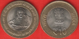 """India 10 Rupees 2015 """"Dr BR Ambedkar"""" BiMetallic - India"""