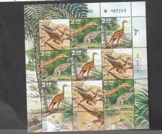 Israel  **  1576-1578 Dinosaurier  Kleinbogen Nicht Gefaltet - Israel