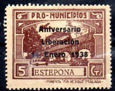 Viñeta De  Estepona Con Sobrecarga. - Viñetas De La Guerra Civil