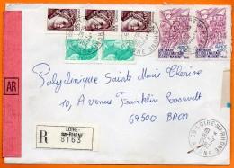 MAURY N° 2145 ECOLE MILITAIRE SAINT MAIXENT  Recommandé 69 LOIRE SUR RHONE  Lettre Entière N° Y 74 - Postmark Collection (Covers)