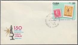 1983-FDC-38 CUBA. FDC. 1983. 150 CARLOS J. FINLAY. MEDICINE  MEDICINA. YELLOW FIVER. - FDC
