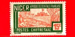 AFRICA Occidentale Francese - Usato - NIGER - 1927 - Paesaggi - Segnatasse - Landscape - 15 - Niger (1921-1944)