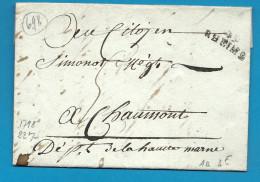 Marne - Reims Pour Chaumont (Haute Marne). LAC De 1798 - 1701-1800: Précurseurs XVIII