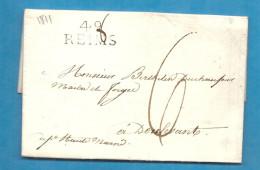 Marne - Reims Pour Les Forges De Doulevant (Haut Marne). LAC - Marcophilie (Lettres)