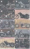 SERIE COMPLETA DE 14 TARJETAS DE NUEVA ZELANDA DE MOTOS  (MOTORBIKE-MOTO) - Motos