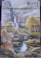 Véritable Peinture Traditionnelle Chinoise Sur Papier De Riz (Painting On Rice Paper) Paysage - Asian Art