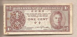Hong Kong - Banconota Circolata Da 1 Centesimo - 1945 - Hong Kong