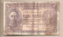 Malesia - Banconota Circolata Da 1 Centesimo - 1945 - Malesia