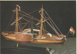 CARTE POSTALE --- BATEAU  Voilier --- KISFALUDY Passenger Steamship On Lake Balaton ( 1846 ) - Voiliers