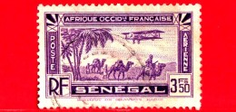 SENEGAL - Africa Occidentale Francese - Usato - 1935 - Posta Aerea - Plane Flying Over A Landscape - 3.50 - Gebruikt