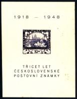 CSSR 1948 Block Mi. 11 Yv. 13 Postfrisch MNH** - Blocchi & Foglietti