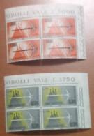 SAN MARINO - 1965 - Espresso - Quartina D'angolo - Block Of 4 - NUOVO - **MNH - Nuevos
