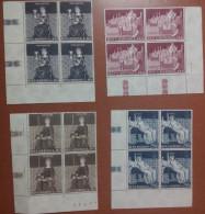 SAN MARINO - 1969 - Dipinti Di Ambrogio Lorenzetti - Quartina D'angolo - Block Of 4 - NUOVO - **MNH - San Marino