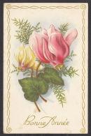 N30044/ Bonne Année, Fleurs, Cyclamens - Nieuwjaar