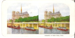 Cathedral Of Notre Dame, Paris - Stereoscope Cards