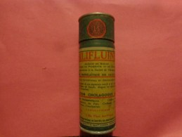 Boite Carton Avec Notice +tube Verre BILIFLUINE  LABORATOIRE STENE A MOULINS+cycladiene Labo Bruneau - Sciences & Technique