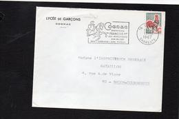 """Flamme Cognac """" Berceau De François 1er Ses Monuments Son Musée Son Pineau Ses Cognacs"""" Sur YT 1331 Coq Décaris - 1961-...."""