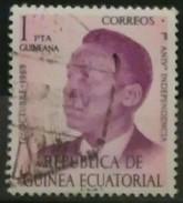 GUINEA ECUATORIAL 1970 Francisco Macias Nguema, 1922-1979. Presidente. USADO - USED. - Guinea Española