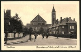 CPA Eindhoven, Reigerlaan Met Kerk V. D. H. Antonius, Villapark - Eindhoven