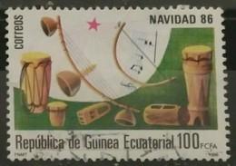 GUINEA ECUATORIAL 1986 Navidad. ALGO ADELGAZAZO. USADO - USED. - Guinea Española
