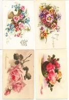 Fantaisie  - Lot De 8 Cartes De Fleurs : Achat Immédiat - Fantaisies