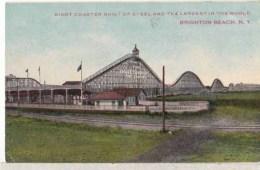 Etats Unis -  New YorK -  Brighton Beach - Giant Coaster Built  Of Steel  : Achat Immédioat - Utica