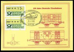 94579) BRD - Karte - SoST 6638 DILLINGEN, SAAR 1 Vom 29.06.1985 - 125 Jahre Saarstrecke, Bahnhofsfest, ICE - [7] Federal Republic