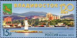 Russia, 2010, Mi. 1656, Sc. 7222, SG 7699, The 150th Anniv. Of Vladivostok, Lighthouses, Ships, MNH - Fari