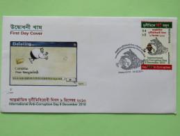 Bangladesh 2011 FDC Cover - Anti Corruption Day - Hand - Bangladesh