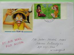 Japan 2011 Cover To Nicaragua - Cartoons Anime - 1989-... Kaiser Akihito (Heisei Era)