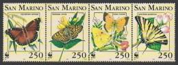 (WWF-142) W.W.F. San Marino MNH Butterfly Stamps 1993 - W.W.F.