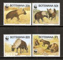 (WWF-190) W.W.F. Botswana Brown Hyena MNH Perf Stamps 1995 - W.W.F.