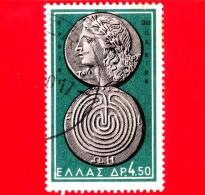 GRECIA - Usato - 1959 - Monete Antiche - Apollo And Labyrinth, Crete, 3rd Cent. B.C. - 4.50 - Griechenland
