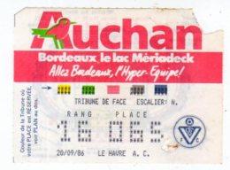 Billet Championnat De France,Girondins De Bordeaux-Le Havre A.C. - Tickets - Vouchers