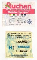 Billet Championnat De France,Girondins De Bordeaux-R.C. Lens - Tickets - Vouchers