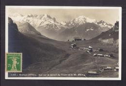 CPSM SUISSE - BRETAYE - Vue Sur Le Massif Du TRIENT Et Le Mt. Blanc - Jolie Vue Habitations Chalets - VD Vaud
