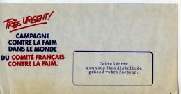 Organisation Comité Français Contre La Faim,campagne Contre La Faim Dans Le Monde,enveloppe Distribuée Par Le Facteur - Tegen De Honger