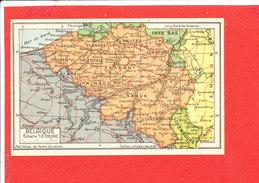 BELGIQUE Cpa Carte Géographique     Edit Jeheber - Maps