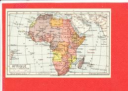 AFRIQUE Cpa Carte Géographique     Edit Jeheber - Maps