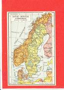 SUEDE NORVEGE DANEMARK   Cpa Carte Géographique     Edit Jeheber - Maps