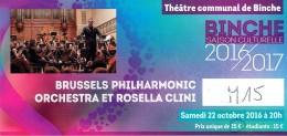 Ticket Du Concert Du Brussels Philharmonic Orchestra Avec Rosella Clini, Binche, 22/10/16 - Tickets D'entrée