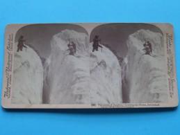 The ASCENT Of JUNGFRAU Crossing The GLACIER SWITZERLAND ( Underwood & Underwood N° 32 ) Zie Foto´s Voor Details ) ! - Photos Stéréoscopiques