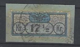 Gerichtszustellmarke Mi. Nr. 1 Briefstück - (Verkäufer Lolo6_6) - 1850-1918 Imperium