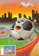 D27406 CARTE MAXIMUM CARD FD 1998 NETHERLANDS - SOCCER COMICAL CARD GOALKEEPER BALL CP ORIGINAL - Soccer