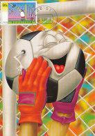 D27407 CARTE MAXIMUM CARD FD 1998 NETHERLANDS - SOCCER COMICAL CARD GOALKEEPER BALL CP ORIGINAL - Soccer