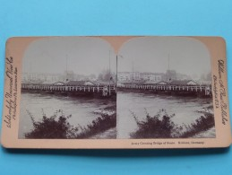 ARMY Crossing Bridge Of Boats KOBLENZ Germany ( William H. Rau ) Zie Foto´s Voor Details ) ! - Stereoscopic
