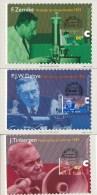 D27414 - 3 CARTES MAXIMUM CARDS FD 1995 NETHERLANDS - 3 DUTCH NOBEL PRIZE WINNERS CP ORIGINAL - Nobel Prize Laureates