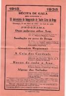 Program ::: XX Aniversário Da Inauguração Do Teatro Circo De Braga 1915-1935 - Programs