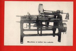 Machine à Tailler Les Sabots - Artisanat Métier (non écrite,dos Divisé) - Cartes Postales