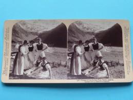 Charms Of The SULDEN-THAL TYROL AUSTRIA ( Underwood & Underwood N° 38 ) Zie Foto´s Voor Details ) ! - Stereoscopic